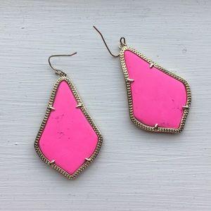 Kendra Scott Alexandra (large) Pink/Gold Earrings